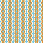 Chainlink Mod Orange and White Stripes