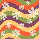 Hippie Wavy Stripes and Flowers