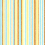 Orange, Yellow, Blue Mod Stripes