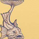 Contemporary Art Nouveau Purple Fish