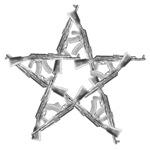 AK-Pentagram black and white