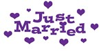 Just Married (Purple)