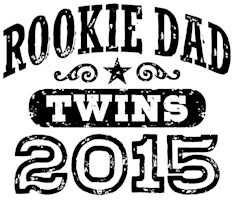 Rookie Dad Twins 2015 t-shirt