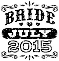 Bride July 2015 t-shirt
