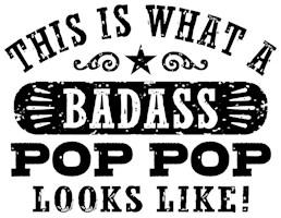 Badass Pop Pop t-shirts