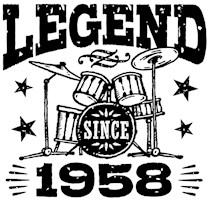 Legend Since 1958 t-shirts