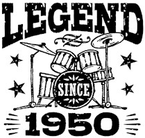 Legend Since 1950 t-shirts