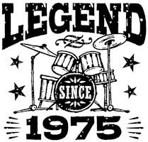 Legend Since 1975 t-shirts