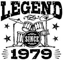 Legend Since 1979 t-shirts