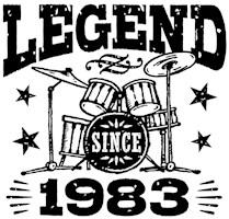 Legend Since 1983 t-shirts