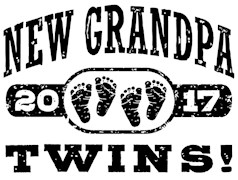 New Grandpa Twins 2017 t-shirts