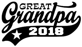 Great Grandpa 2018 t-shirt