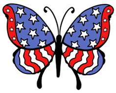 American Butterfly t-shirts