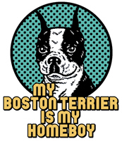 My Boston Terrier is My Homeboy t-shirt