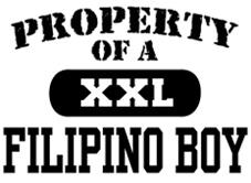 Property of a Filipino Boy t-shirts
