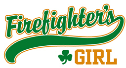 Irish Firefighter's Girl t-shirt