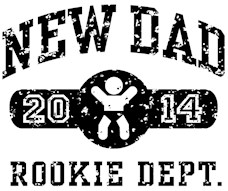 Rookie New Dad 2014 t-shirt