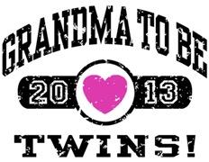 Grandma To Be Twins 2013 t-shirt