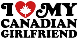 I Love My Canadian Girlfriend t-shirts
