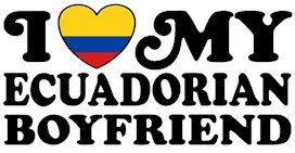 I Love My Ecuadorian Boyfriend t-shirts