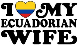 I Love My Ecuadorian Wife t-shirts