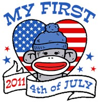 My First 4th of July 2011  t-shirts