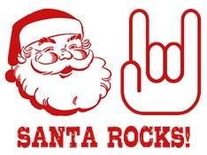 Santa Rocks t-shirt