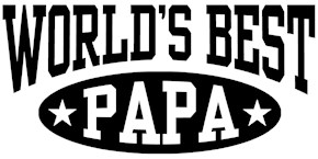 World's Best Papa t-shirts