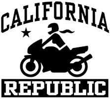 California Republic female Biker t-shirt