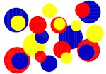 Red Blue Yellow Dots