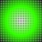 Green Hoop Dots Full Fade