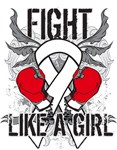 Lung Cancer Ultra Fight Like a Girl Shirts
