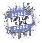 Fight Like a Girl Esophageal Cancer Splatter Shirt