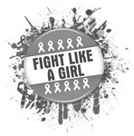Fight Like a Girl Brain Cancer Splatter Shirts