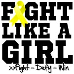 Sarcoma Sporty Fight Like a Girl Shirts
