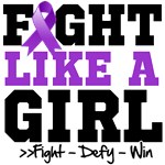 Pancreatic Cancer Sporty Fight Like a Girl Shirts