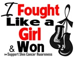 I Fought Like a Girl Skin Cancer Shirts