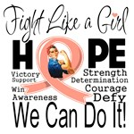 Fight We Can Do It Uterine Cancer Shirts