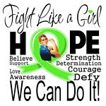 Lyme Disease Hope Fight Like a Girl Shirts