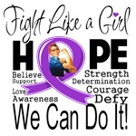 Fibromyalgia Hope Fight Like a Girl Shirts