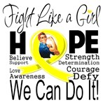 Endometriosis Hope Fight Like a Girl Shirts