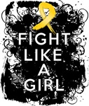 Fight Like a Girl Childhood Cancer Grunge Shirts