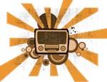 retro seventies analog radio
