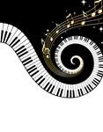 Mixed Musical Notes (Black gold)