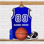 Personalized Basketball Jersey Blue