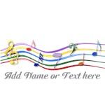 Mixed Musical Rainbow Notes