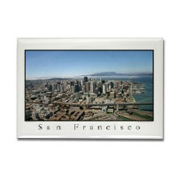 sf bay gifts - aerial SF landmarks magnets