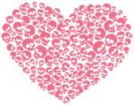 Pink Heart of Skulls