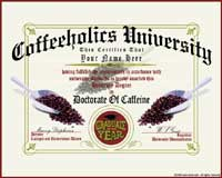 Coffeeholics Diploma | Trendy T-Shirts & Gifts