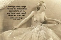 Michel de Montaigne: Marriage Quote on Nude Girl